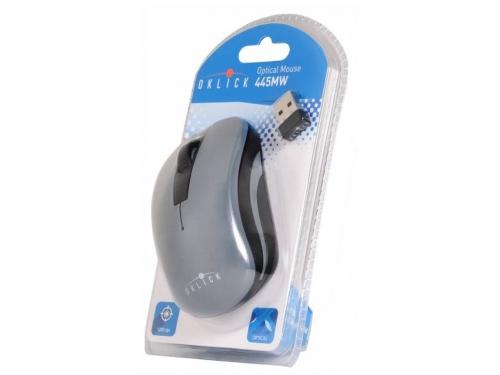 Мышь Oklick 445MW USB черная/серая, вид 5