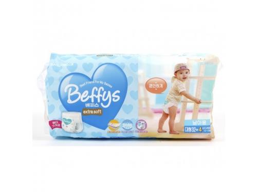 Подгузник Beffy's extra soft  д/мальчиков L 10-14кг/36шт, вид 2