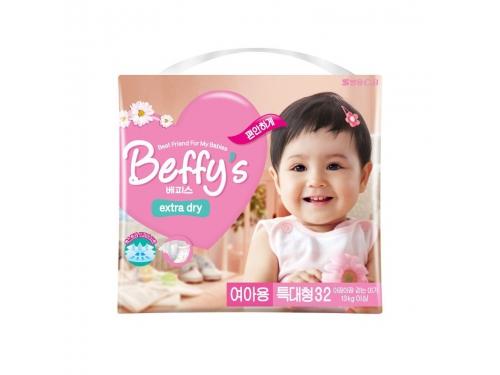 Подгузник Beffy's extra dry  д/девочек XL более 13кг/32шт, вид 2