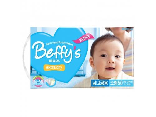Подгузник Beffy's extra dry  д/детей S 3-8кг/50шт, вид 2