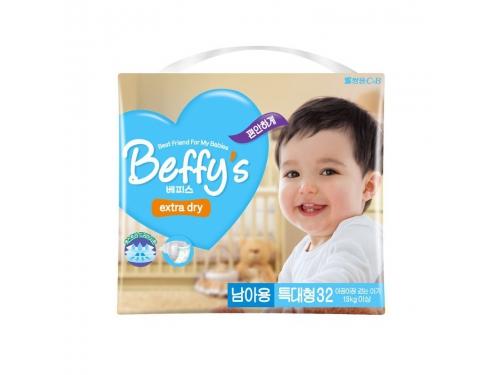 Подгузник Beffy's extra dry д/мальчиков XL более 13кг/32шт, вид 2