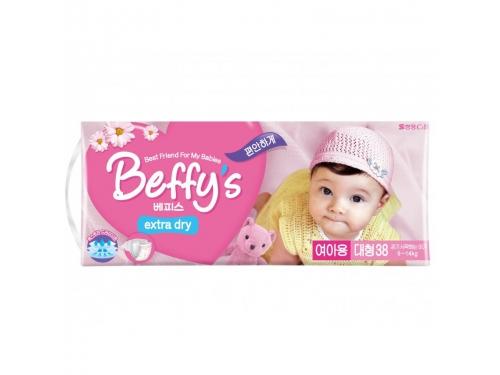 Подгузник Beffy's extra dry д/девочек L 9-14кг/38шт, вид 2