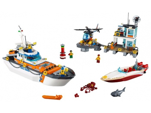 Конструктор LEGO City 60167 Штаб береговой охраны, вид 3