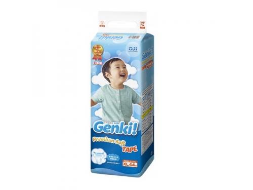 Подгузник Genki Premium Soft, XL, 12-17кг, (44 шт), вид 1