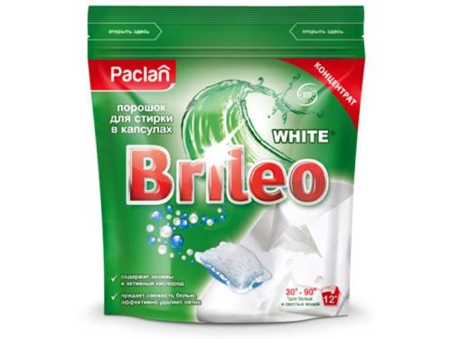 Средство для стирки Порошок в капсулах Paclan Brileo White 12 шт, вид 1