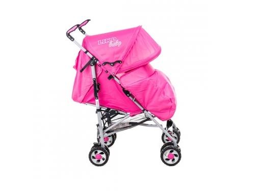 Коляска Liko Baby BT109 City Style, розовая, вид 3