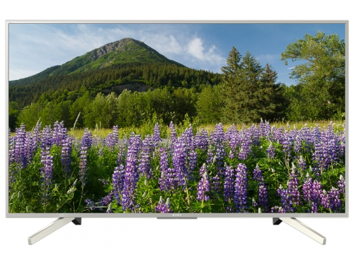 телевизор Sony KD49XF7077, серебристый, вид 1