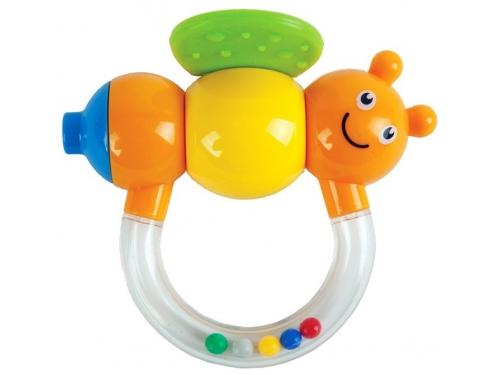 Игрушка для малыша Погремушка-прорезыватель Жирафики Пчёлка Мая с дудочкой, вид 1