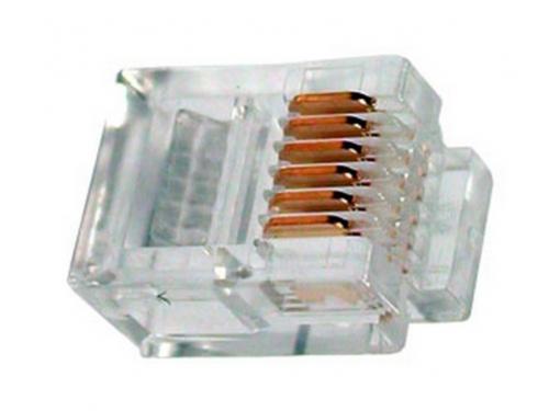 Коннектор сетевой RJ-12, вид 1