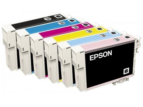 Картридж Epson T0817 (комплект цветных картриджей, 6 цветов по 11.1 мл), вид 2