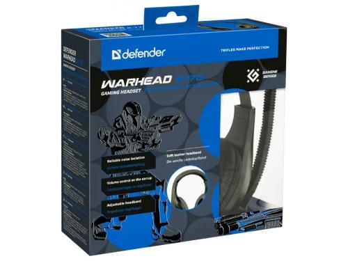 Гарнитура для ПК Defender Warhead G-170, черная, вид 4