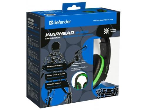 Гарнитура для ПК Defender Warhead G-300, зеленая, вид 4