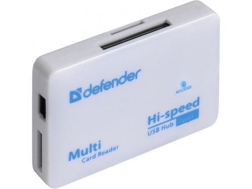 Устройство для чтения карт памяти Defender COMBO TINY (встроенный USB-хаб на 3 порта), вид 2
