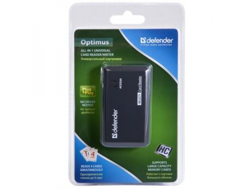 Устройство для чтения карт памяти Defender Optimus USB 2.0, 5 слотов, вид 4