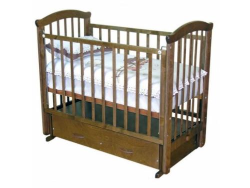 Детская кроватка Красная Звезда Ирина С625, шоколад, вид 1