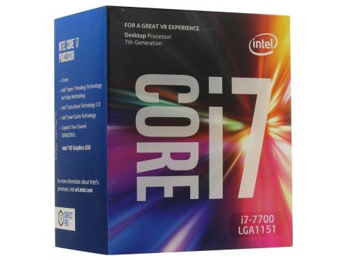 Процессор Intel Core i7-7700 Kaby Lake (3600MHz, LGA1151, L3 8192Kb, Retail), вид 1
