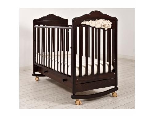 Детская кроватка Angela Bella Изабель (качалка), махагон, вид 1