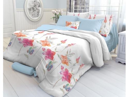 Комплект постельного белья Verossa 2,0-спальный, перкаль, нав. 70х70*2, Color Flowers, вид 1
