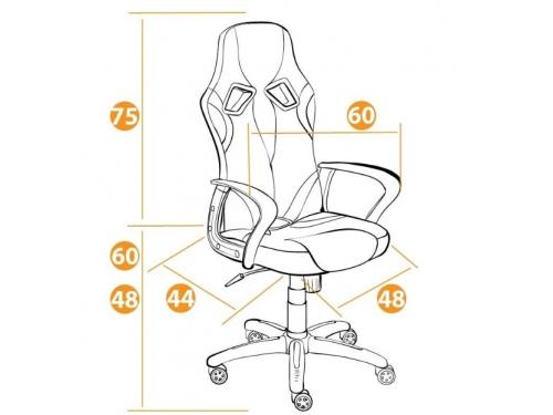 Компьютерное кресло Tetchair  RUNNER 36-01/tw-10/tw-08, белый/синий/красный, вид 2