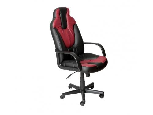 Компьютерное кресло TetChair Нео 1 кож/зам, black/bordeaux, вид 1