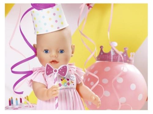 Кукла Zapf Creation Baby Born Нарядная с тортом, 43 см, 825-129 (интерактивная), вид 1