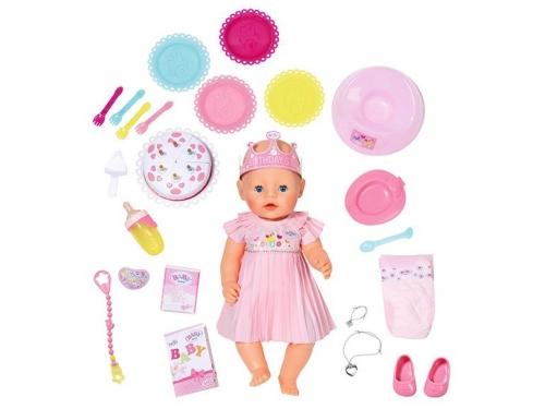 Кукла Zapf Creation Baby Born Нарядная с тортом, 43 см, 825-129 (интерактивная), вид 2