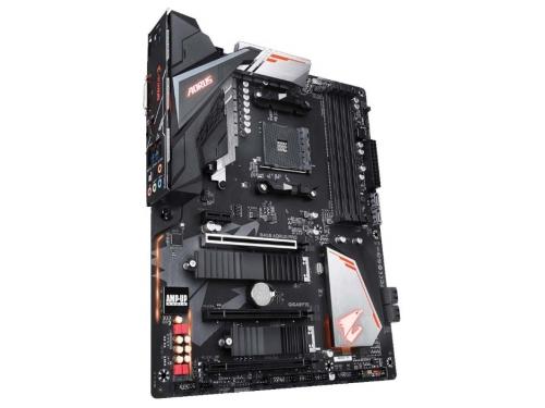 Материнская плата Gigabyte B450 Aorus Pro Soc-AM4, AMD, ATX, DDR4, SATA3, USB 3.0, вид 3