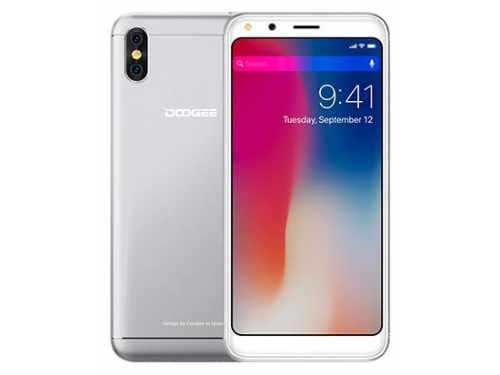Смартфон Doogee X53 1/16Gb, серебристый, вид 1