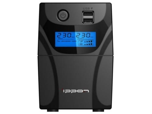 Источник бесперебойного питания Ippon Back Power Pro II 600, черный, вид 1