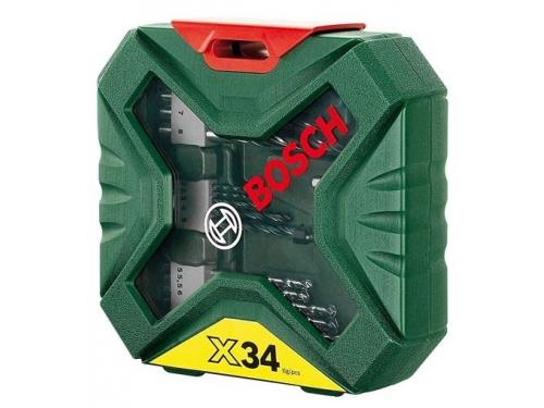 Набор сверл Bosch X-Line Classic, биты и свёрла + кейс, 34 предмета [2607010608], вид 3