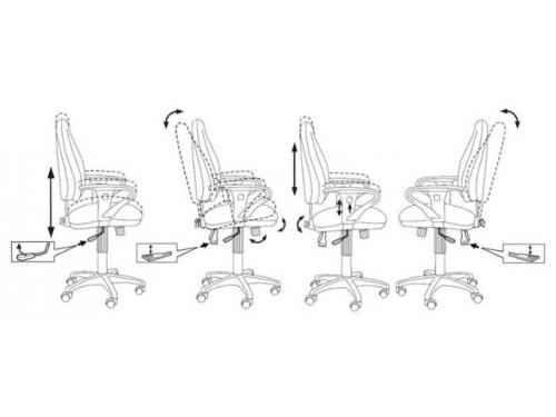 Компьютерное кресло Бюрократ T-612AXSN/Grey JP-15-1, вид 3