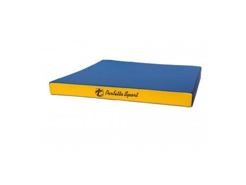 Мат гимнастический Perfetto Sport № 2, сине/жёлтый, вид 1