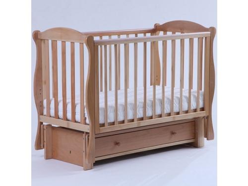 Детская кроватка Кубаньлесстрой Кубаночка-6 БИ 42.3, натуральный бук, вид 1