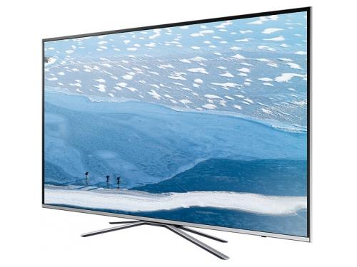 телевизор Samsung UE55KU6400U, серебристый, вид 1