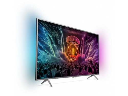 телевизор Philips 49PUS6401, серебристый, вид 1