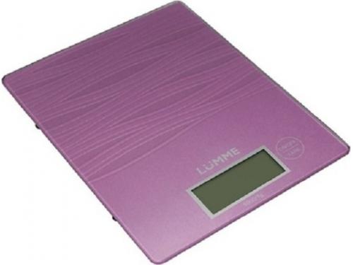 Кухонные весы Lumme LU-1318, лиловый аметист, вид 1