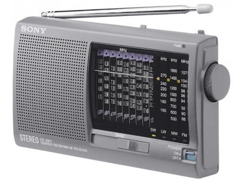 Радиоприемник Sony ICF-SW11S, серебристый, вид 1