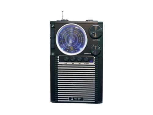 Радиоприемник Сигнал БЗРП РП-314, черный, вид 1