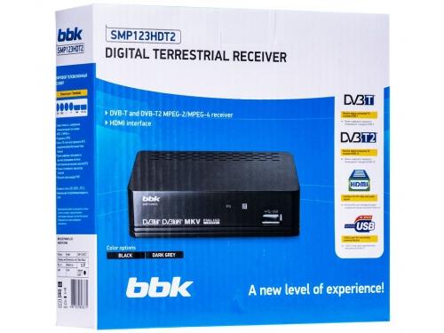 Ресивер BBK SMP123HDT2, черный, вид 2