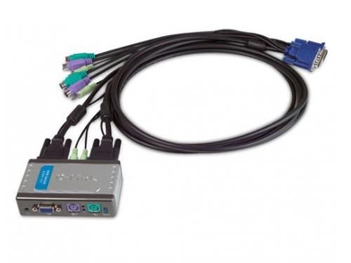 KVM-переключатель D-Link KVM-121 (на 2 ПК), вид 1