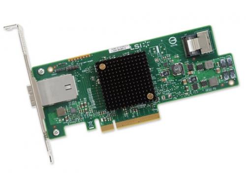 Контроллер LSI Logic 9207-4I4E (4 + 4, SAS/SATA, для сервера), вид 1