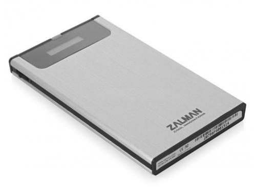 Корпус для жесткого диска Zalman ZM-VE350 (microUSB 3.0, 2.5''), серебристый, вид 3