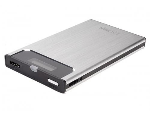 Корпус для жесткого диска Zalman ZM-VE350 (microUSB 3.0, 2.5''), серебристый, вид 2