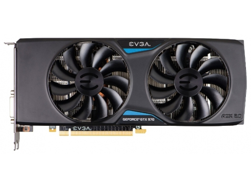 Видеокарта GeForce EVGA GeForce GTX 970 1190Mhz PCI-E 3.0 4096Mb 7010Mhz 256 bit DVI HDMI HDCP, вид 1