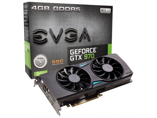 ���������� GeForce EVGA GeForce GTX 970 1190Mhz PCI-E 3.0 4096Mb 7010Mhz 256 bit DVI HDMI HDCP, ��� 5