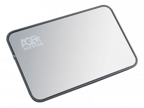 Корпус для жесткого диска AgeStar 3UB2A8-A (2.5'', SATA - microUSB3.0b), чёрный, вид 1