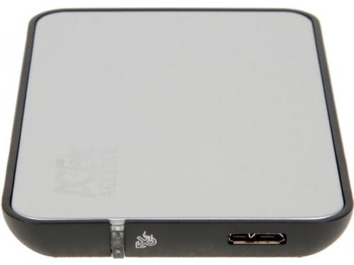 Корпус для жесткого диска AgeStar 3UB2A8-A (2.5'', SATA - microUSB3.0b), чёрный, вид 3
