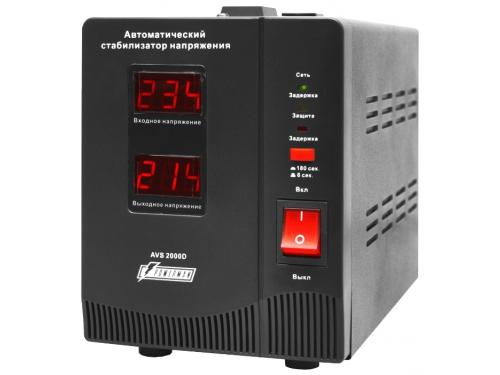 Стабилизатор напряжения Powerman AVS 2000D, черный, вид 2