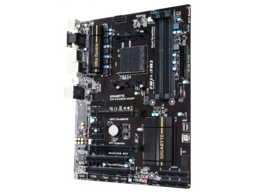 Материнская плата Gigabyte GA-F2A88X-D3HP (rev. 1.0) (ATX, Socket FM2+, AMD A88X, 4xDDR3), вид 2