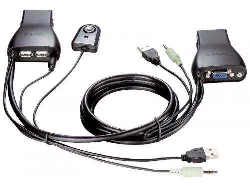 KVM-переключатель D-Link KVM-221 (на 2 ПК, USB), вид 1